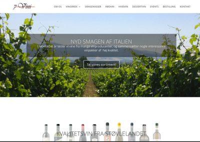 Hjemmeside for 7Vini – vinhandel