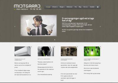 Hjemmeside for Midtgaard ApS – elinstallatør