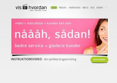 Hjemmeside for Vishvordan – videoinstruktion